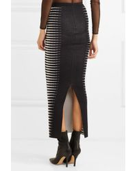 Haider Ackermann Black Wool And Silk-blend Jacquard Maxi Skirt