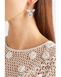 Dolce & Gabbana - Metallic Gold-plated Swarovski Crystal Earrings - Lyst