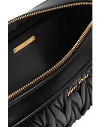 Miu Miu - Black Matelassé Leather Camera Bag - Lyst