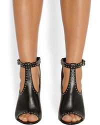 Givenchy - Studded Ankle Boots In Black Leather - Lyst