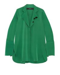 Ellery - Green Button-detailed Silk-blend Georgette Shirt - Lyst
