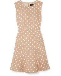 J.Crew Natural Marcy Minikleid Aus Tweed Mit Polka-dot-stickerei