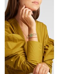 Brooke Gregson - Metallic Triple Orbit 18-karat Gold Sapphire Bracelet - Lyst