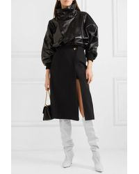 Givenchy White Kniehohe Stiefel Aus Leder