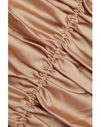 Robe Longue Froncée En Satin Eva Georgia Alice en coloris Natural