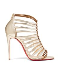 Christian Louboutin | Milla 100 Metallic Leather Sandals | Lyst