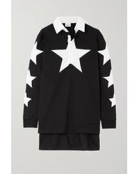 Burberry Black Polohemd Aus Baumwoll-piqué Mit Print