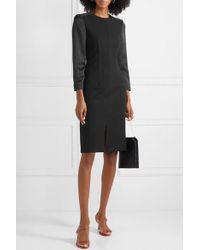 Cefinn Black Kleid Aus Ponte Und Satin