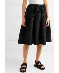 CECILIE BAHNSEN Black Tina Taffeta Midi Skirt