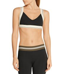 Olympia - Black X Stretch-jersey Sports Bra - Lyst