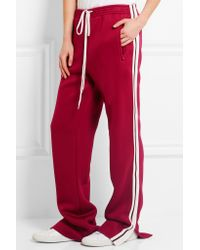 Chloé - Black Jersey Wide-leg Sweatpants - Lyst