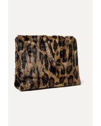 Stand Studio Multicolor Lola Tote Aus Faux Fur Mit Leopardenprint