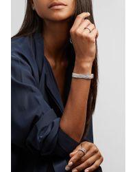 Suzanne Kalan - Metallic 18-karat White Gold Diamond Cuff - Lyst