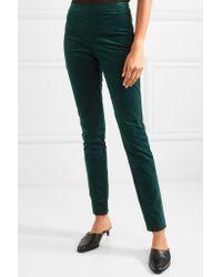 Theory Green Cotton-blend Corduroy Leggings