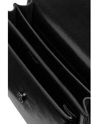 Saint Laurent Black Monogramme Sunset Medium Glossed-leather Shoulder Bag