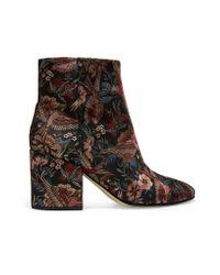 Sam Edelman - Black Taye Jacquard Ankle Boots - Lyst