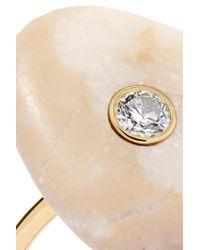 Cvc Stones Metallic Ring Aus 18 Karat Gold Mit Kieselstein Und Einem Diamanten