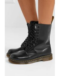 Marc Jacobs - Black Dr. Martens Leather Ankle Boots - Lyst