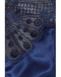 String En Tulle Et En Satin À Broderies Moonlight I.D Sarrieri en coloris Blue