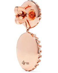 Boucles D'oreilles En Métal Trempé Dans Un Bain D'or Rose Et Quartz Olivia Larkspur & Hawk en coloris Pink