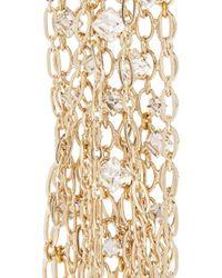 Lanvin - Metallic Fringed Gold-tone Swarovski Crystal Brooch - Lyst