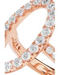 Anita Ko - Metallic Oval Halo 18-karat Rose Gold Diamond Ring - Lyst