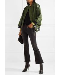 Moncler Green Reblochon Gabardine Bomber Jacket
