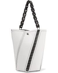 Proenza Schouler White Hex Medium Paneled Leather Tote