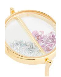 Aurelie Bidermann - Pink Chivor 18-karat Gold, Sapphire And Topaz Ring - Lyst