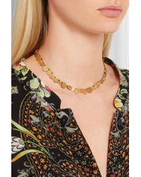Katerina Makriyianni - Metallic Hammered Gold-plated Necklace - Lyst