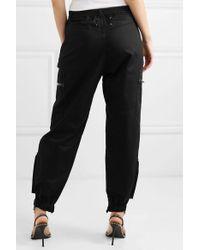 Pantalon Treillis En Serge De Coton À Fermetures À Glissière Maison Margiela en coloris Black
