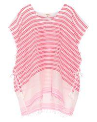 lemlem - Pink Selina Striped Cotton-blend Gauze Kaftan - Lyst