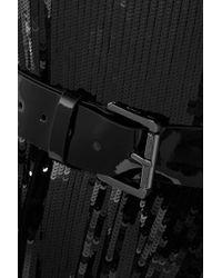 Robe Asymétrique En Georgette À Sequins Et À Ceinture MICHAEL Michael Kors en coloris Black