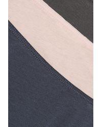 Skin - Blue Set Of Three Pima Cotton Briefs - Lyst