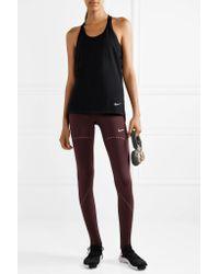 Nike Purple Pro Hyperwarm Perforated Stretch Leggings