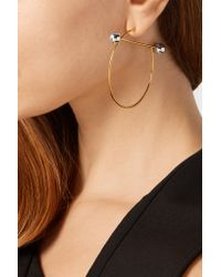 Maria Black - Metallic Solar Gold And Silver-plated Hoop Earrings - Lyst
