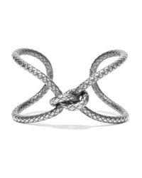 Bottega Veneta - Metallic Oxidized Silver Bracelet - Lyst