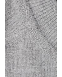 Joos Tricot Mélange Cotton-blend Jersey Top Light Gray