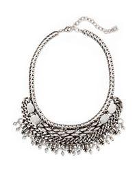 DANNIJO - Metallic Zahara Oxidized Silver-plated Necklace - Lyst