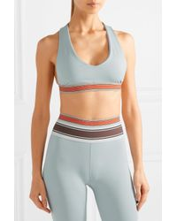 Olympia Blue Minerva Stretch-jersey Sports Bra