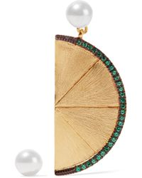 Aamaya By Priyanka - Metallic Large Lime Gold-plated - Lyst