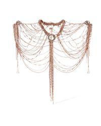 Erickson Beamon - Metallic War On The Roses Rose Gold-plated Swarovski Crystal Body Chain - Lyst