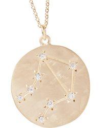 Brooke Gregson Metallic Libra 14-karat Gold Diamond Necklace