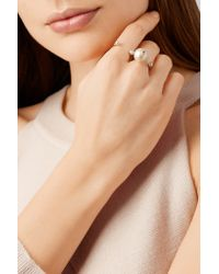Delfina Delettrez - Metallic 18-karat Gold, Pearl And Diamond Ring Gold One Size - Lyst