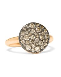 Pomellato | Metallic Sabbia 18-karat Rose Gold Diamond Ring | Lyst