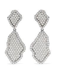 Kimberly Mcdonald - 18-karat White Gold Diamond Earrings - Lyst