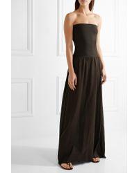 Eres Brown Zephyr Ankara Cotton-jersey Maxi Dress