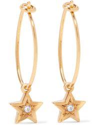Iam By Ileana Makri - Metallic Gold-plated Swarovski Crystal Earrings - Lyst