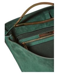Eddie Borgo Green Pepper Sac Suede Shoulder Bag