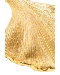 Oscar de la Renta - Metallic Large Earring Ginkgo Leaf Earring - Lyst